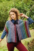 Design: Black Multi Colour Zig-Zag Jacket