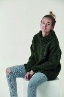 Design: Simple stocking stitch roll neck sweater