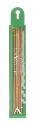 Bamboo double point knitting needles set of 5, 2.5 - 3.5 mm