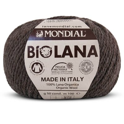 Mondial Biolana Organic (Aran) sale pack of 8 shade 342